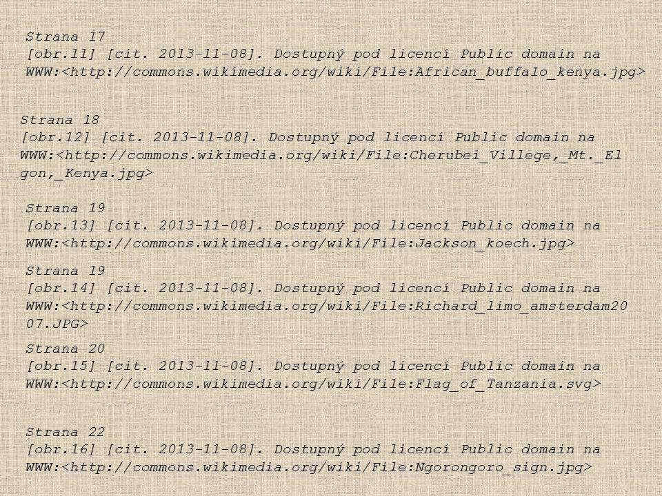 Strana 17 [obr.11] [cit. 2013-11-08]. Dostupný pod licencí Public domain na. WWW:<http://commons.wikimedia.org/wiki/File:African_buffalo_kenya.jpg>